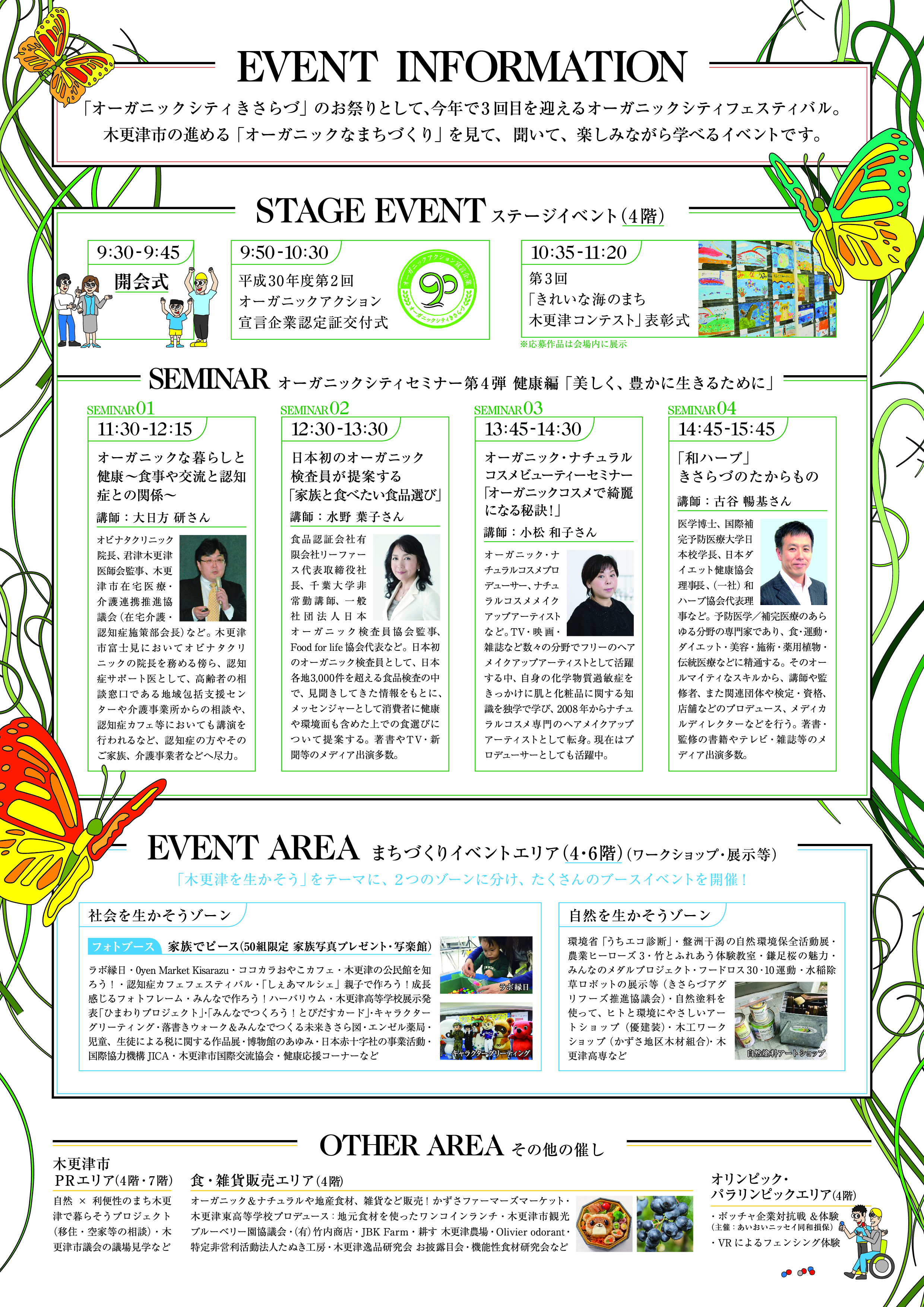 木更津市オーガニックシティフェスティバル2018(チラシ裏)